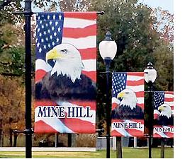 Rileighs Outdoor Decor - Patriotic Street Pole Banner