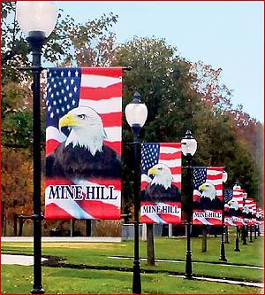 Patriotic - Historic Outdoor Street Pole Banner