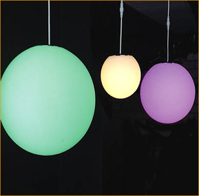 Intelligent Lighting Hanging Spheres
