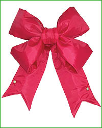 Red Nylon Bow