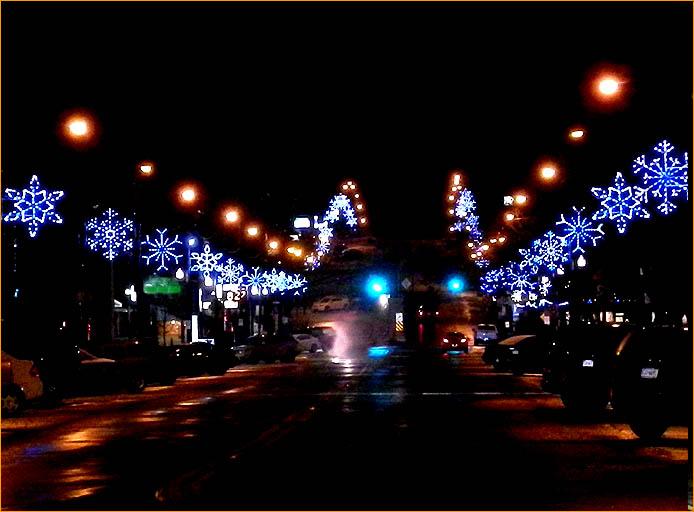 Custom Street Display - Street Entry Way Snowflakes