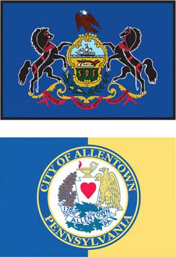 Large Format Flag - Allentown Pennsylvania