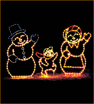 Outdoor Ground Display Snowman