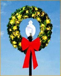Lamppost Wreath LP319