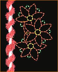 Lamppost Poinsettia