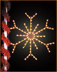 Lamppost Snowflake Silhouette