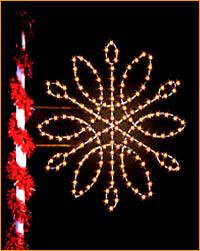 Lamppost Snowflake Spiral