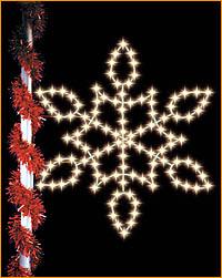 Lamppost Snowflake Winterfest