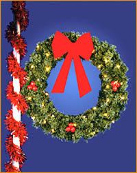 Lamppost Wreath Bow
