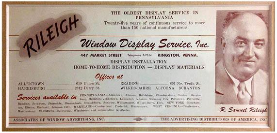 Rileighs - Advertisement - Oldest Display Service in Pennsylvania