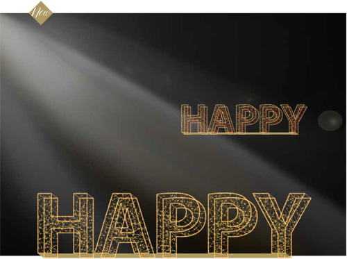 Designer Series - Animated Light Happy