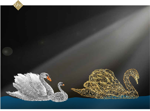 Designer Series - Animated Light Swan