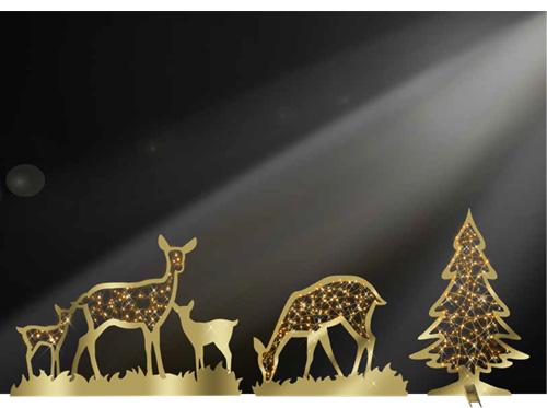 Designer Series - Animated Light Giant Animals - Deer Cutouts