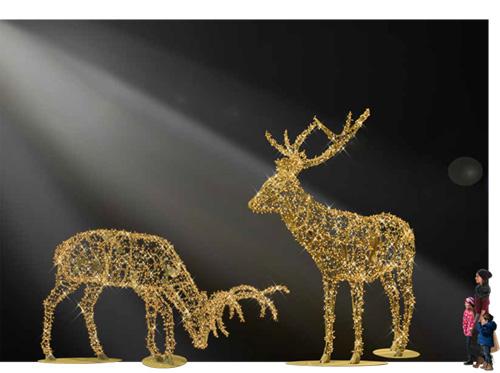 Designer Series - Animated Light Sparkling Giants - Gentle Stags