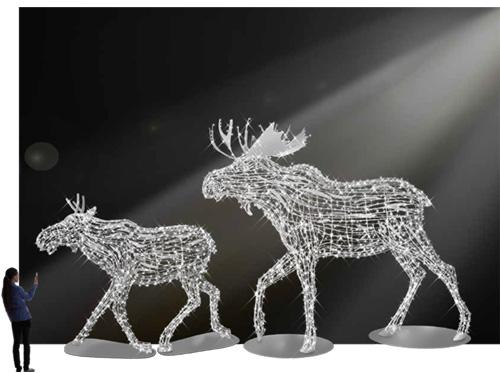 Designer Series - Animated Light Giant Animals - Henry Moose
