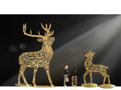Designer Series - Animated Light Giant Animals - Majestic Stag