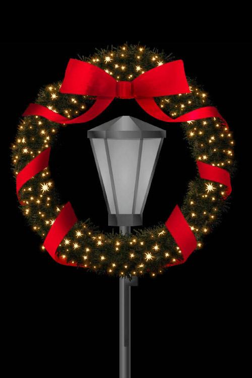 Designer Series - Pole Mount Decorations - Wreath