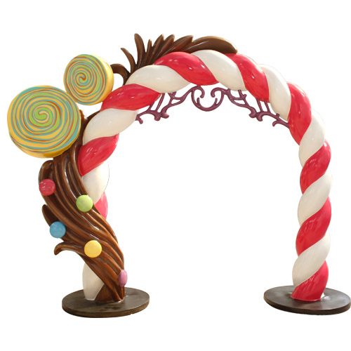 Christmas Decorations - Fiberglass - Candy Arch