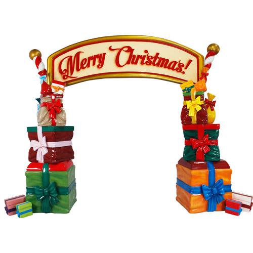 Christmas Decorations - Fiberglass - Gift Arch