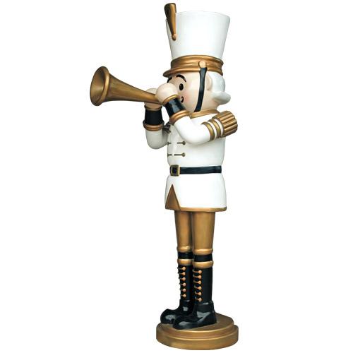 Christmas Decorations - Fiberglass - Nutcracker with Trumpet