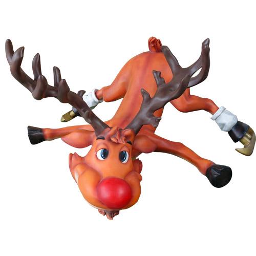 Christmas Decorations - Fiberglass - Reindeer with Ice Skates