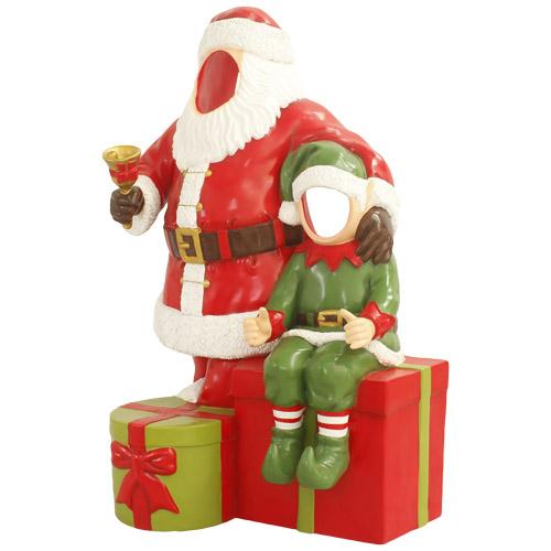 Christmas Decorations - Fiberglass - Santa and Elf Photo Opportunity