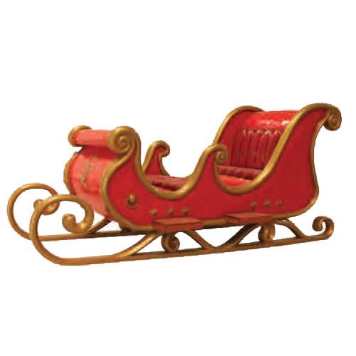Christmas Decorations - Fiberglass - Santa's Sleigh
