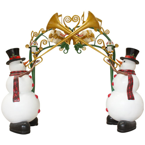 Christmas Decorations - Fiberglass - Snowman Arch