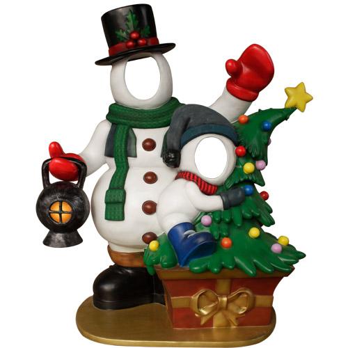 Christmas Decorations - Fiberglass - Snowman Photo Opportunity