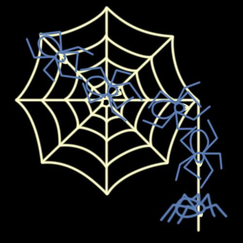 RileighsOutdoorDecor-Halloween-animated-spider-web