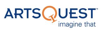 ArtsQuest logo. Taglin, imagine that, is underneath